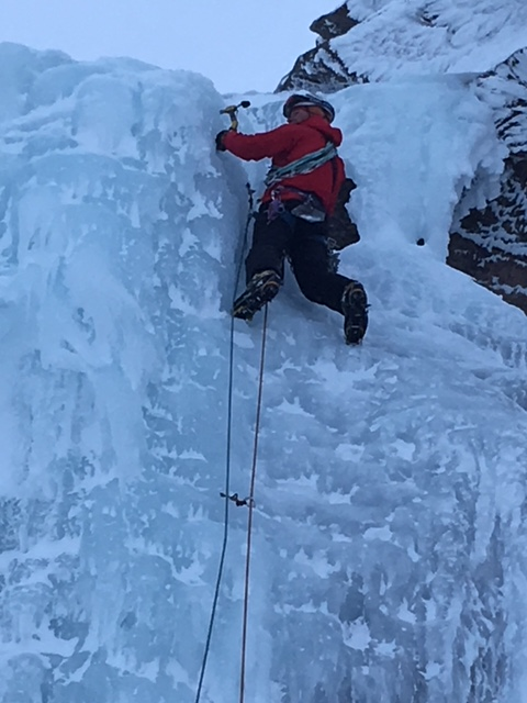 Fine dry ice climbing in the Cairngorms