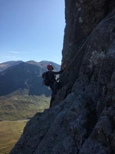 Glen Coe rock climbing